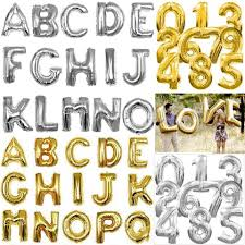 balloon letters gold 8x foil balloon letter 16 i you more phrases available