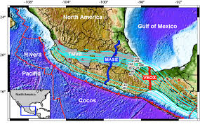 Southern Mexico Map by Mexico Subduction Experiments
