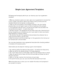 simple loan document template free 28 images loan agreement