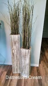 floor vases home decor set of two 28 rustic floor vases wooden vases home decor