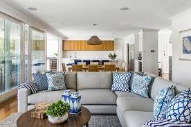 déco coussin canapé déco deco interieur coussin bleu blanc motif canape déco