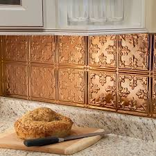 polished copper backsplash color at diy decor store