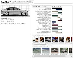 toyota avalon touchup paint codes image galleries brochure and