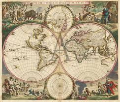 Nova Map Nova Orbis Tabula In Lucem Edita A F De Wit World Maps