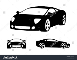 jeep front silhouette vector luxury car silhouettes frontal angled stock vector