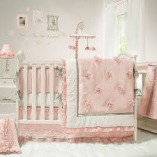 White Nursery Bedding Sets The Peanut Shell Baby Crib Bedding Set Pink And White