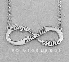 name pendant 3 name infinity necklace bestnamenecklace