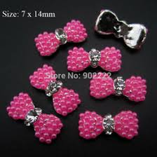discount nail art 3d pink bow 2017 nail art 3d pink bow on sale