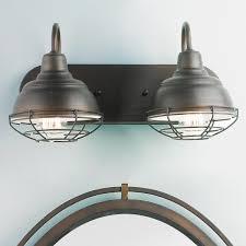 Vanity Light Shades Industrial Cage 2 Light Vanity Light Shades Of Light