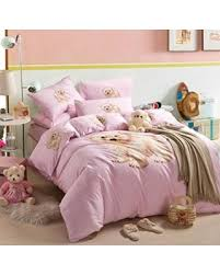 savings on little bear pink bedding duvet cover set cartoon