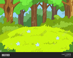 forest glade forest glade cartoon background vector u0026 photo bigstock