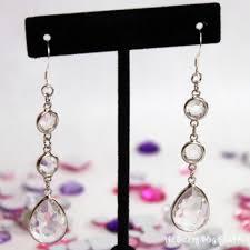 earrings diy how to make rhinestone drop earrings the crafty stalker