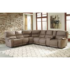 Ashley Furniture Sectional Ashley Furniture Bohannon Power Reclining Sectional In Taupe