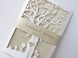 tree wedding invitations fall wedding invitation laser cut tree wedding invitation