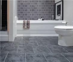 vinyl flooring for bathrooms ideas grey textured vinyl tile flooring with fabulous built in tub for