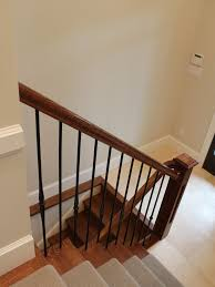 Staircase Ideas Near Entrance Heritage Home With Red Exterior Fhballoon Com