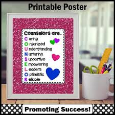 School Counselor Appreciation Gift Hot Pink Counseling Office Decor