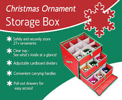 see through ornament storage box for 27