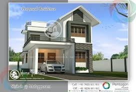 Home Design For Rectangular Plot 1900 Sq Ft Home U0027s Design Only 7 Cent Plot Required