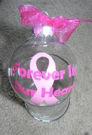 made breast cancer ornament by ourelfscreations