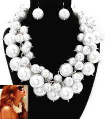 big pearls necklace images Big bubble white pearl necklace celebrity inspired jewelry jpg