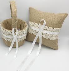 click to buy u003c u003c ourdecor 2pcs set vintage hesian burlap ring