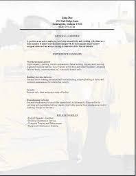 Laborer Resume Sample opulent ideas general resume template 7 free general resume