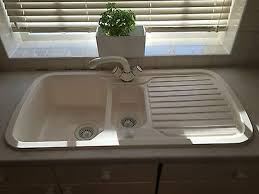 Plastic Kitchen Sinks Kitchen With White Plastic Sink Featured Faucet Maintain The