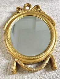 vintage gold framed wall mirror plaster frame oval shabby chic