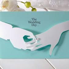 unique wedding invitation mint blue 3d ring unique wedding invitations cho 2859