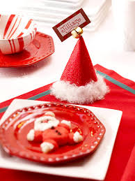 crafts for a beautiful christmas table santa hat place cards