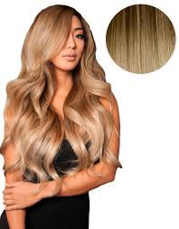bellamy hair extensiouns balayage 160g 20 ombre chocolate brown dirty blonde hair