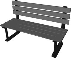 3d Bench 3d Park Bench Vector Drawing Public Domain Vectors