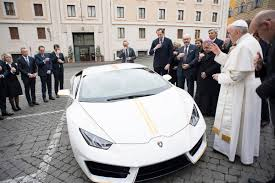 lamborghini big papa pope gets white and yellow lamborghini nbc news