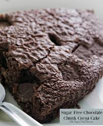 sugar free chocolate chunk cocoa cake the sugar free diva