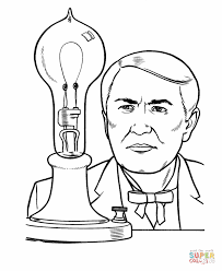 thomas edison coloring free printable coloring pages