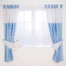 4 types of blue nursery curtains