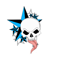 skull tattoo design by kandyland kizzez on clipart library clip