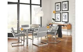 Rand Dining Table With Lira Chairs Modern Dining Room Furniture - Room and board dining tables