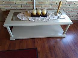 glass top l table coffee table cream with glass top l 122cm w 50cm brackenfell