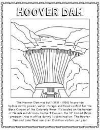 flood coloring pages hoover dam informational text coloring page craft or poster geography