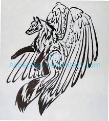 tribal wolf tattoo design by ashetaka on deviantart