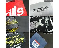design label woven adhesive woven clothing labels woven label designs