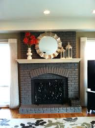 refacing brick fireplace ideas remodel with stone mantel remodel