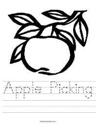 Picking Sheet Apple Picking Worksheet Twisty Noodle