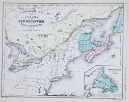 New Brunswick Canada Map Detailed by Map Of New Brunswick And Nova Scotia 1865