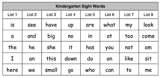 printable kindergarten sight words tadpoles trails and trees growing readers kindergarten sight word
