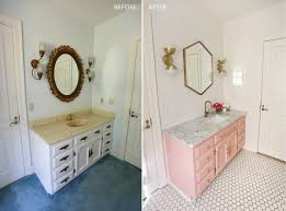 Cost Of Tiling A Small Bathroom Elsie U0027s Guest Bathroom Tour Before After U2013 A Beautiful Mess