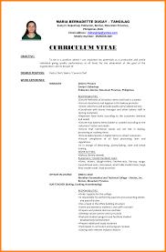 basic resume exles 2017 philippines 5 fresh graduate resume sle target cashier