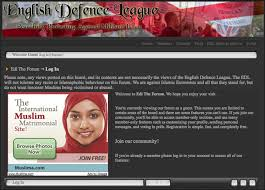 English Defence League forum with Google Ad for Muslim dating service currybetdotnet